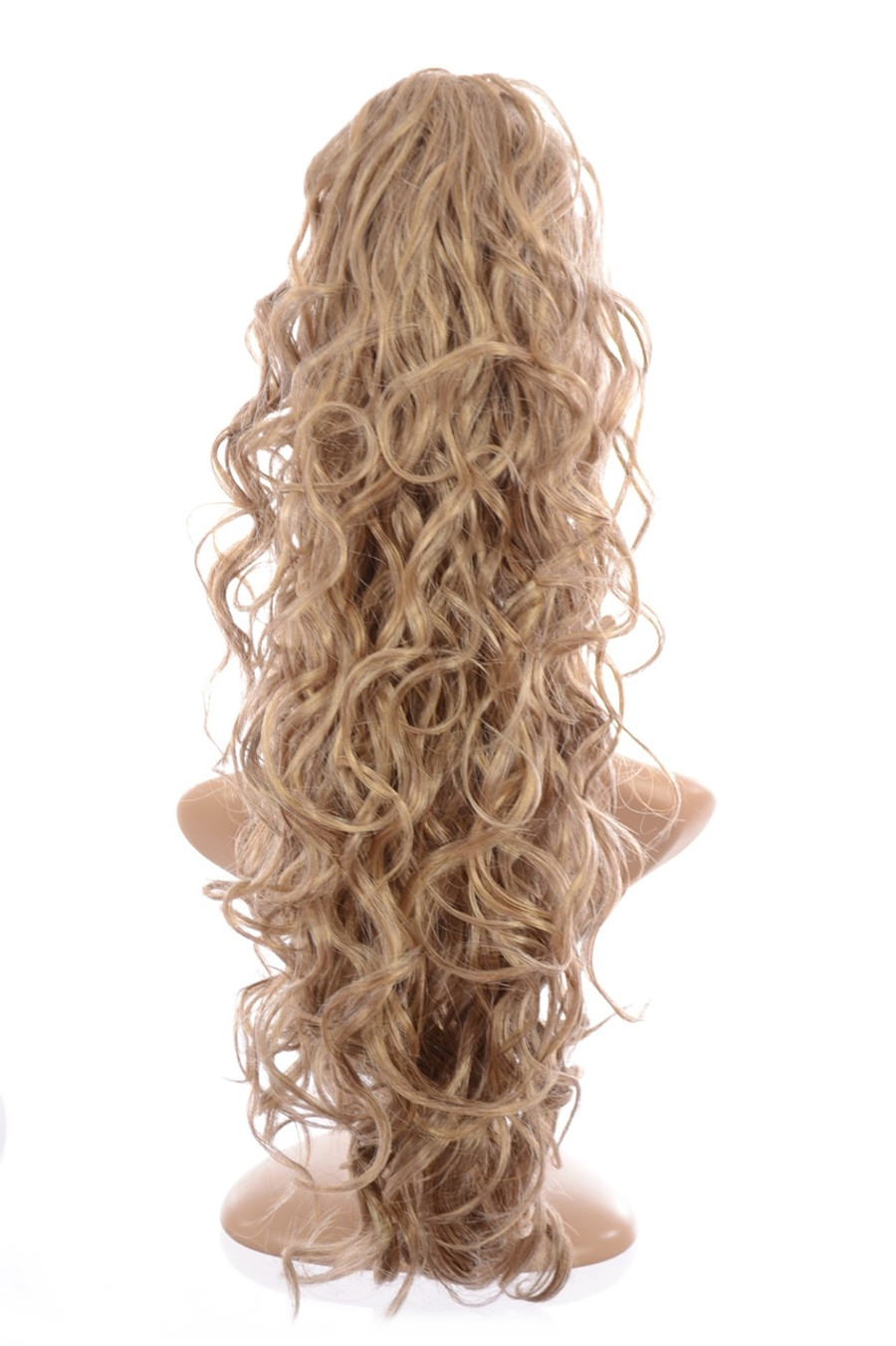 Claw Grip Ringlet Curly Hair Piece Ponytail Clip: Sandy Ash Blonde