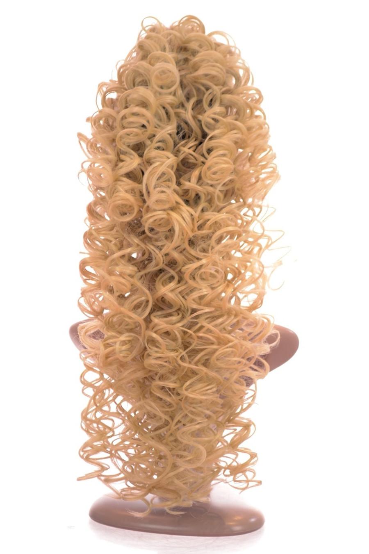 Irish Dance Style Spiral Curly Ponytail Cotton Blonde