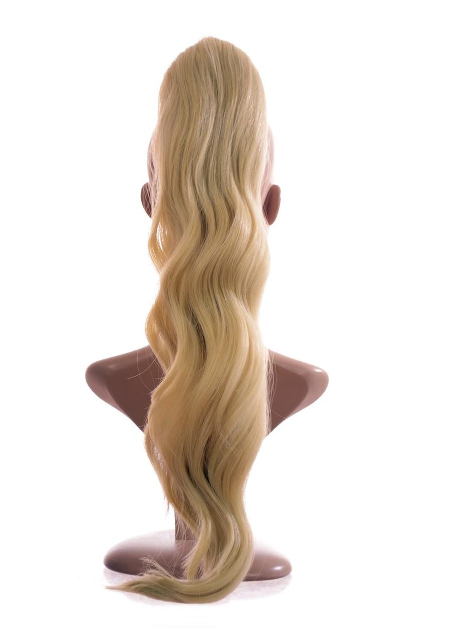 Pony Wave Drawstring Ponytail Cotton Blonde