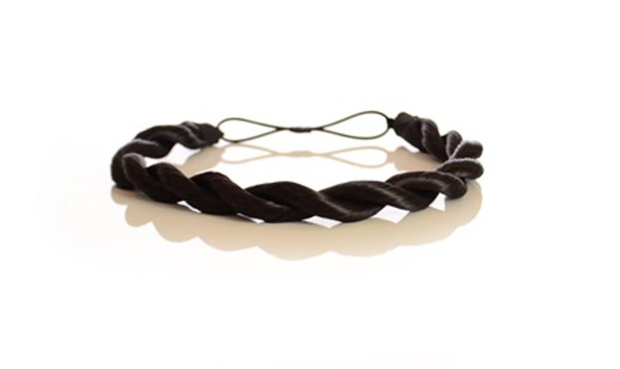 Rope Elasticated Headband Expresso Black