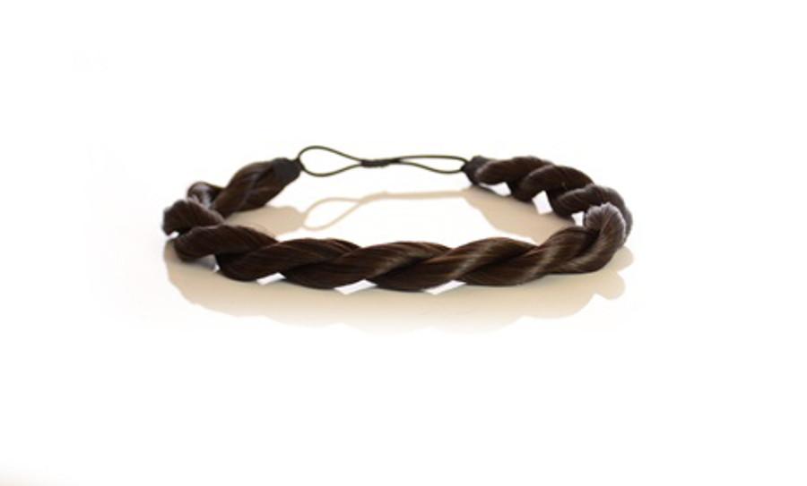 Rope Elasticated Headband Dark Chocolate Brown