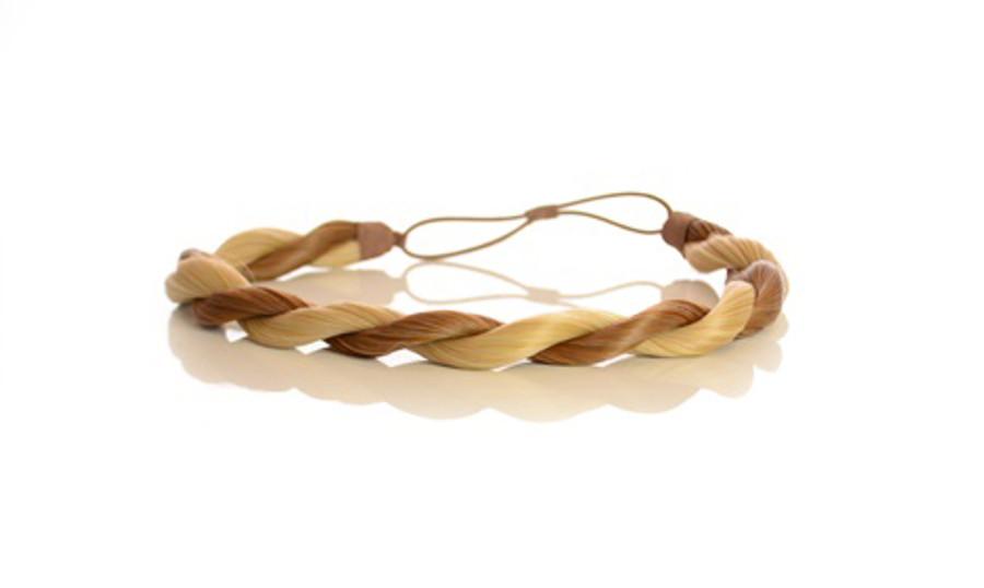 Rope Elasticated Headband Light Rust Blonde