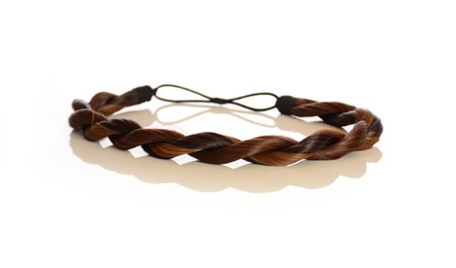 Rope Elasticated Headband Toffee Chocolate Brown