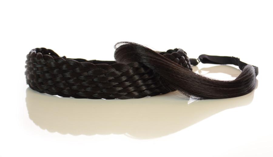 Elasticated Rattan Headbands Expresso Black