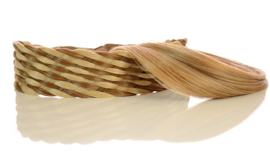 Elasticated Rattan Headbands Light Rust Blonde/Brown