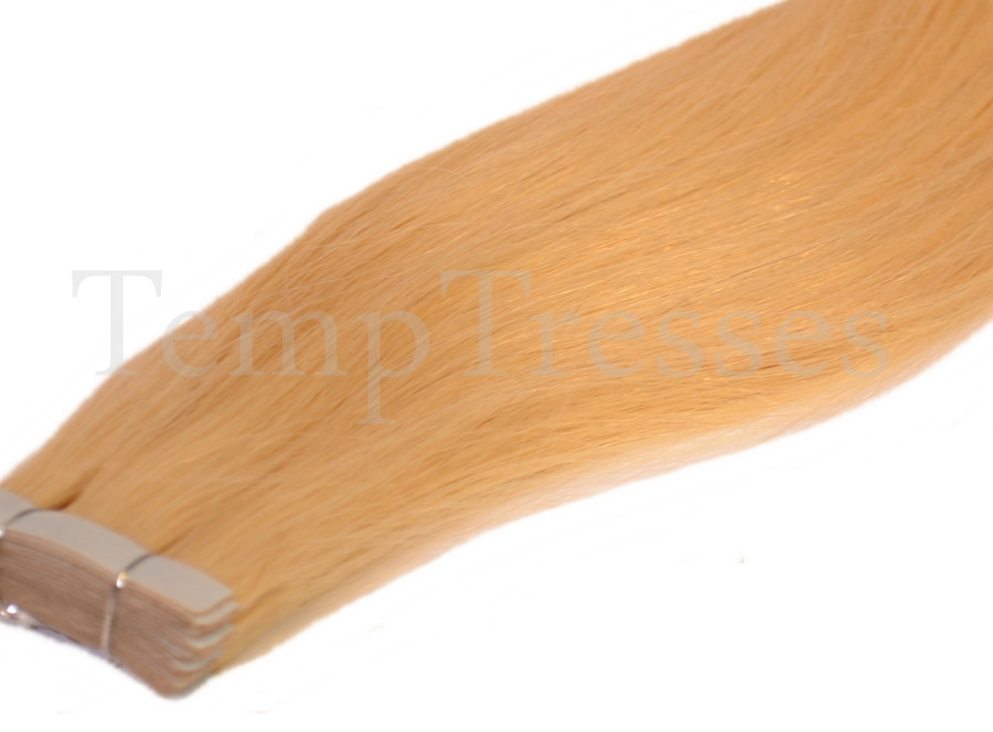 Shade 613 Blonde 100% Human Hair Tape In Hair Extensions