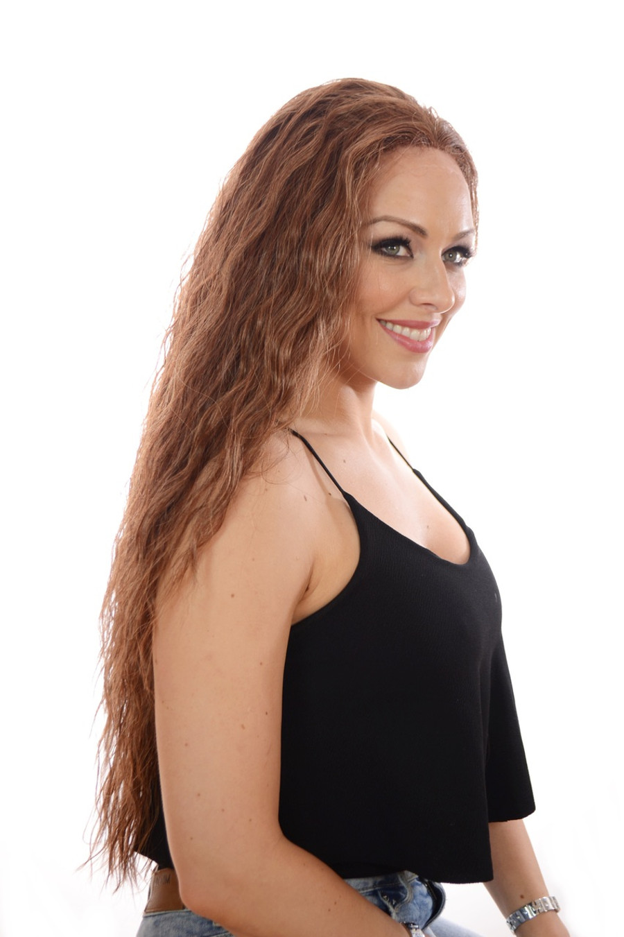 Avril Whisper Brown Long Lace Front Wig