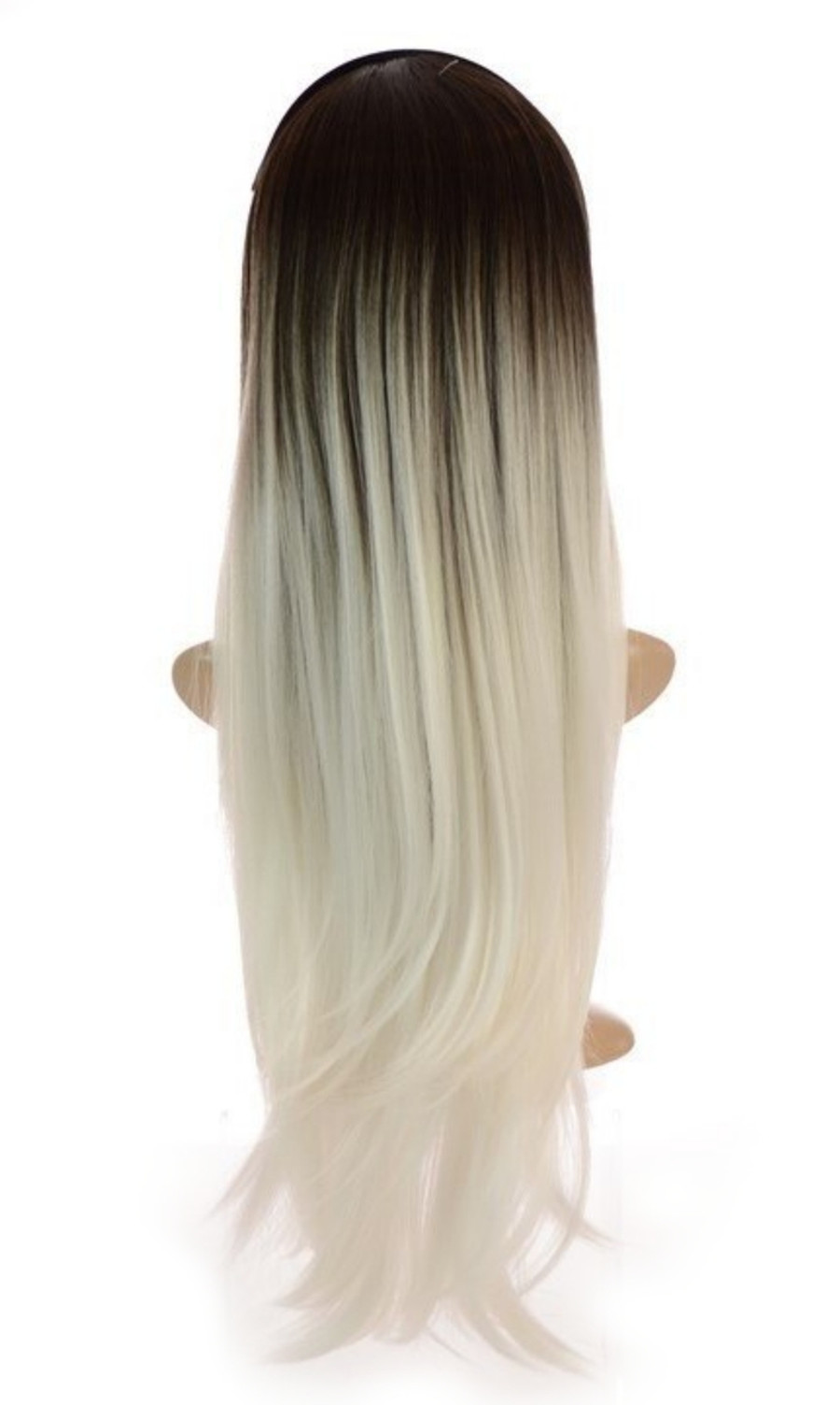 Grey White Ombre Wig - rear