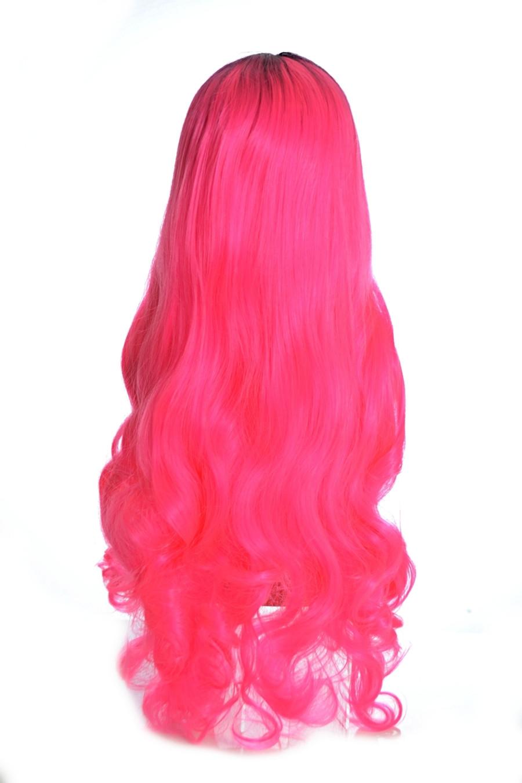 Vibrant Pink Long Wig. Troya