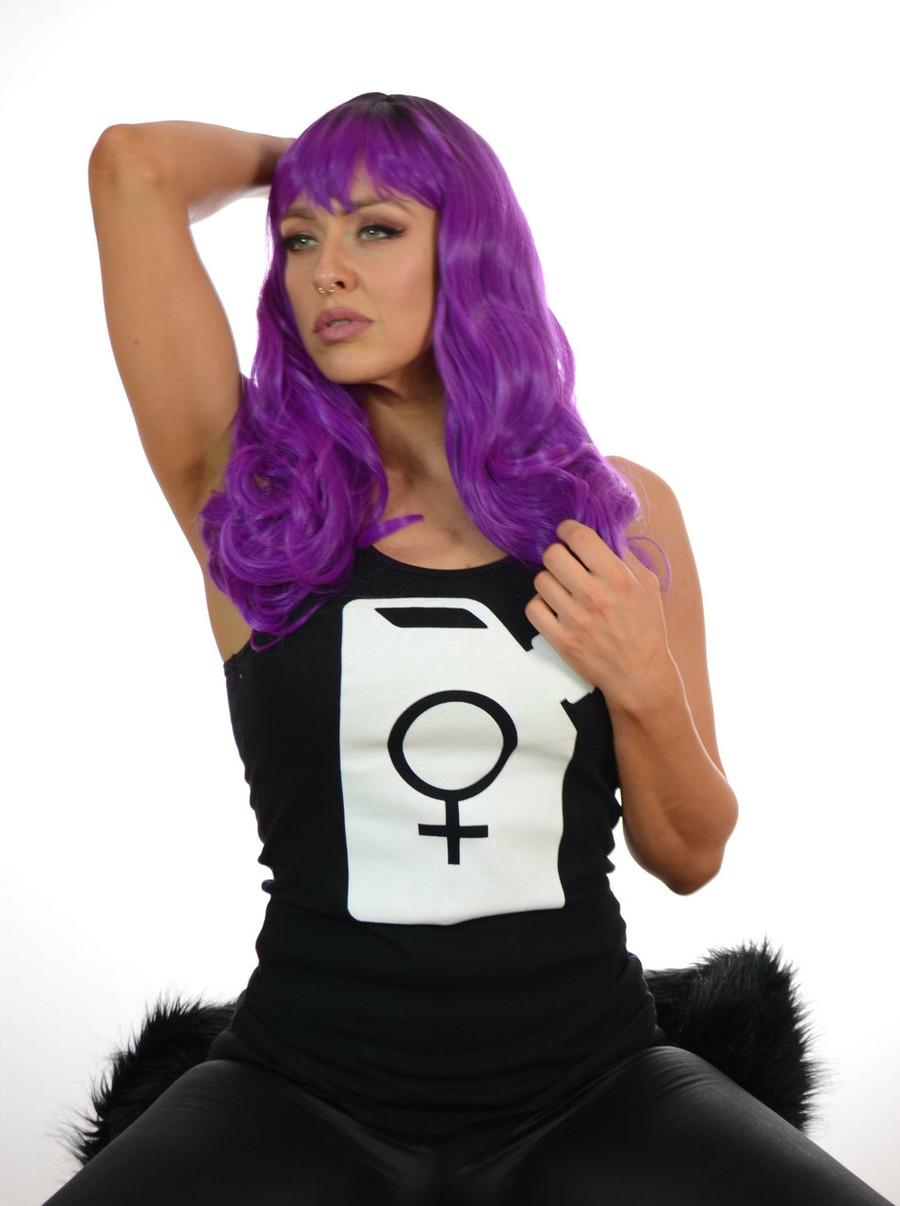 Purple Shavonne Wig