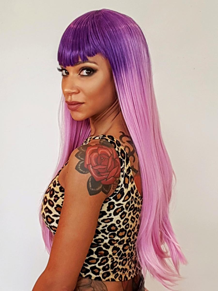 Purple Lavender Long Wig