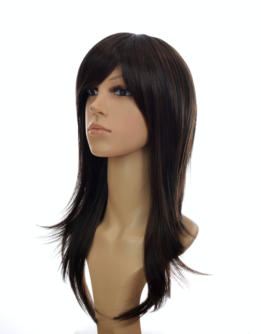 70's Flick Charlies Angels Inspired Wig . Dark Chocolate