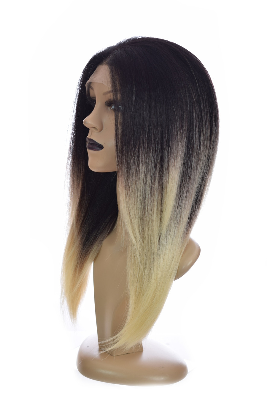Ombre Black Blonde Straight Lace front wig Tori