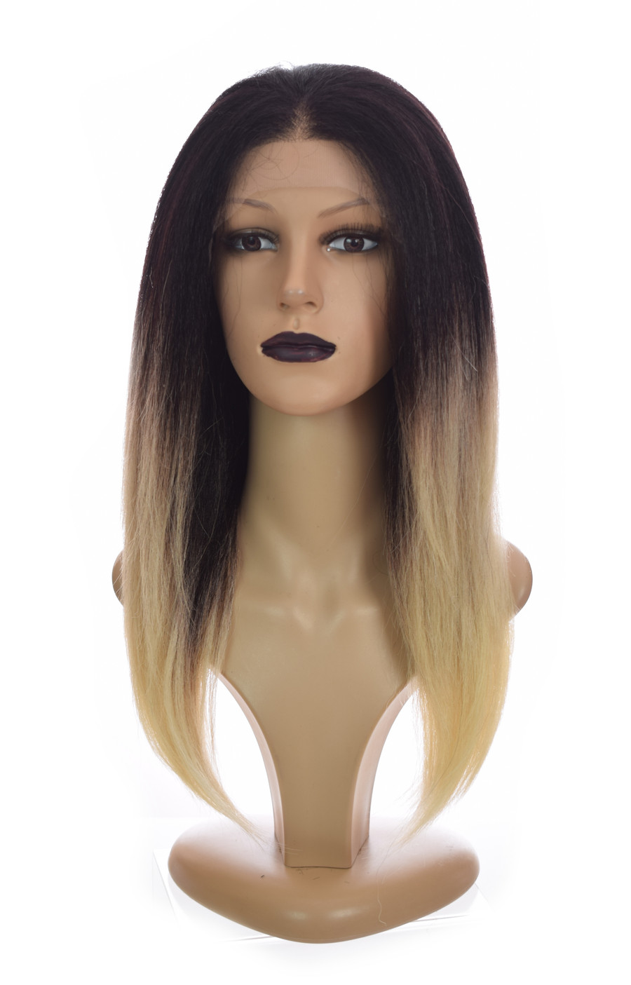 Ombre Straight Lace front wig Tori. Ombre Creme