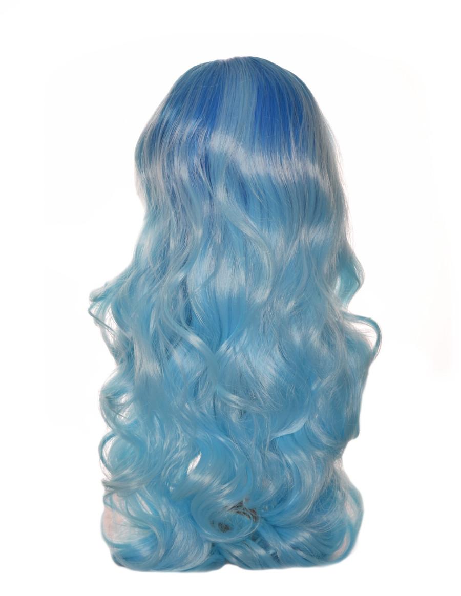 Ombre  Blue Long Lace Front Wig. Azure.