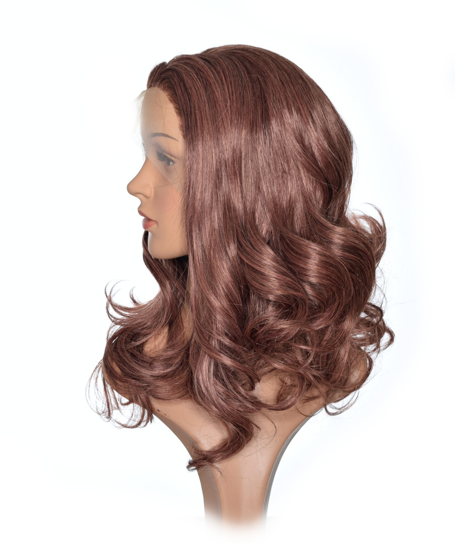 Honey Brown Kate Hairstyle Lace Front Wig