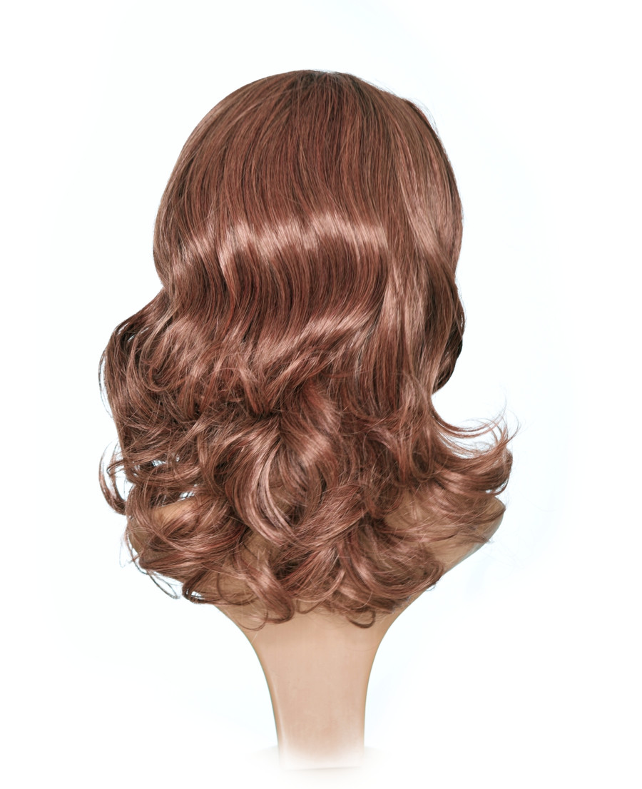 Honey Brown Kate Hairstyle Wig. Rear