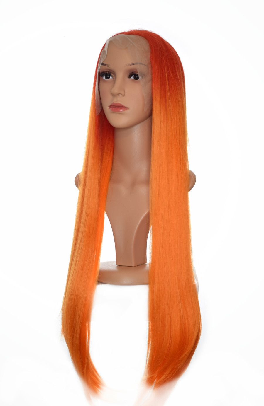 Orange Ombre Godiva XL Lace Front Wig