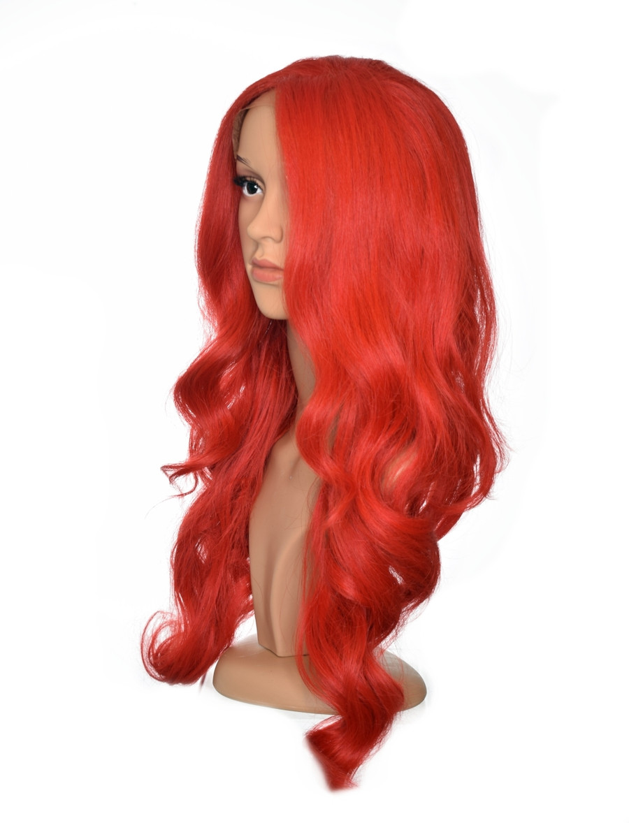 Red  Wavy Lace Front Wig. Dolly.