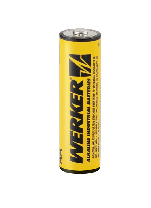 Get these dependable, long-lasting power, Professional AA Werker Alkaline Batteries....