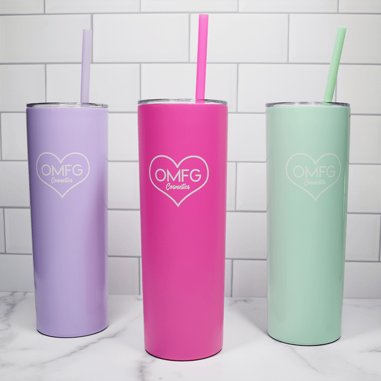 20oz vacuum sealed insulated stainless steel cup with lid and straw