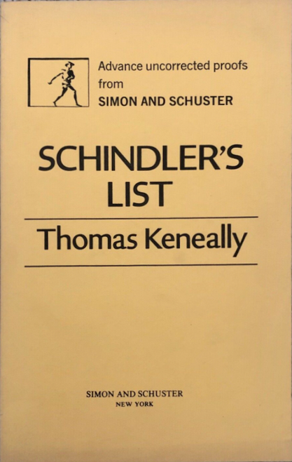 Schindler's List (Publisher Proof)