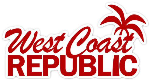 West Coast Republic Logo Sticker
