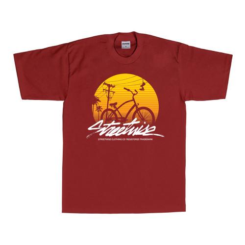 Streetwise Beach Cruiser T-Shirt (Burg)