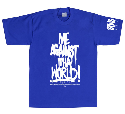 Streetwise Against the World T-Shirt (Royal)