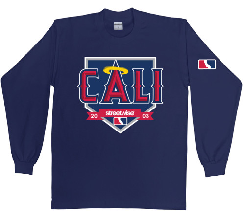 Streetwise Home Plate Long Sleeve in Navy