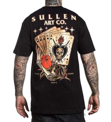 Sullen Dead Mans Hand T-Shirt oversize back print
