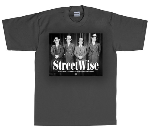 Streetwise Wiseguys T-Shirt (Charcoal)