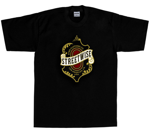 Streetwise Cutlass T-Shirt front print in black