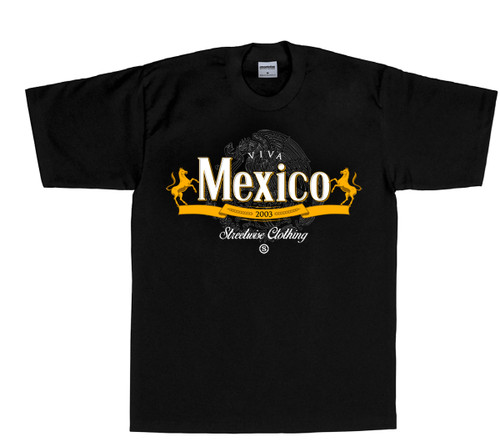 Streetwise Viva Mexico T-Shirt  in black