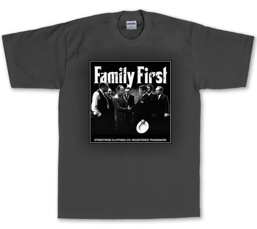 Streetwise Family Business T-Shirt in charcoal