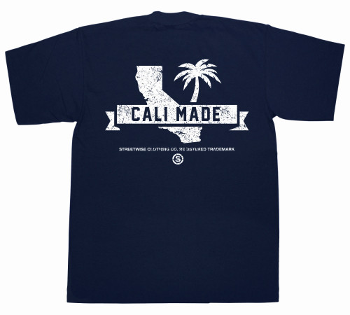 Streetwise Cali Made T-Shirt NVY (back)