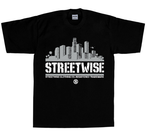 Streetwise City Vibes 2.0 T-Shirt  in black