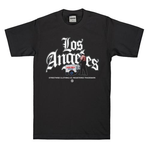 Streetwise LA Hustle T-Shirt in black