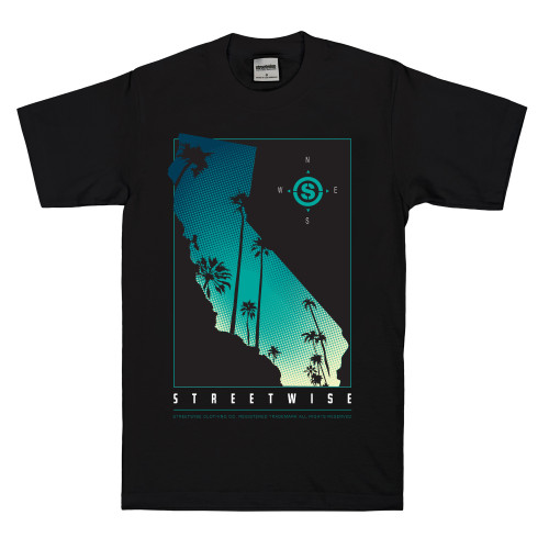 Streetwise Cali Palms shirt in black