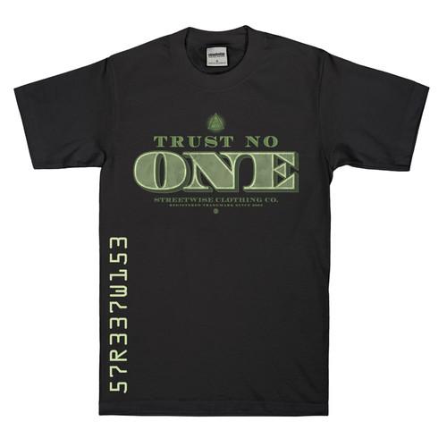 Streetwise Tru$t No One T-Shirt in black