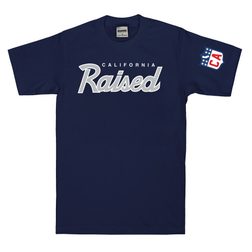 Streetwise Raised T-Shirt in navy