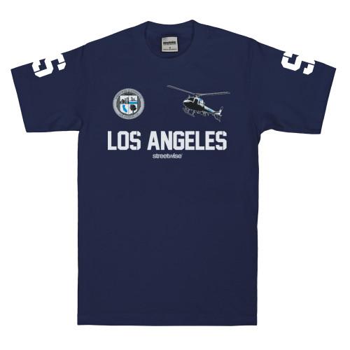 Streetwise LA Polo T-Shirt in navy