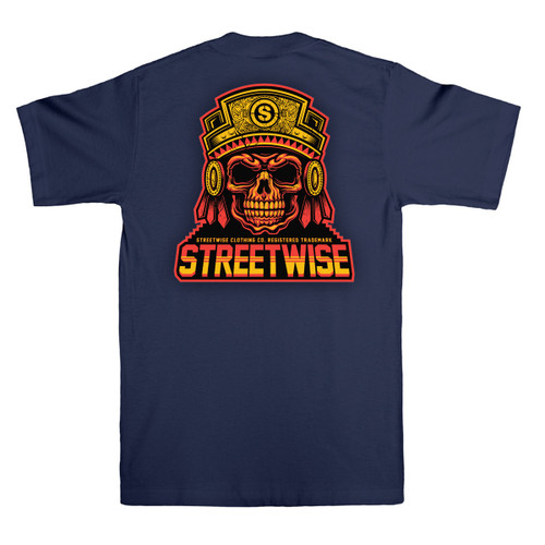 Streetwise Rooted T-Shirt in Navy