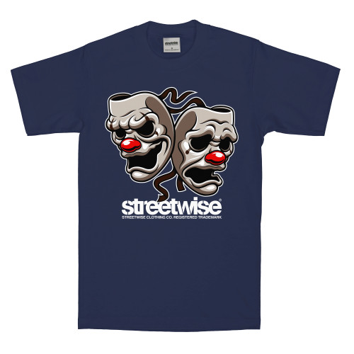 Streetwise All Smiles T-Shirt in navy