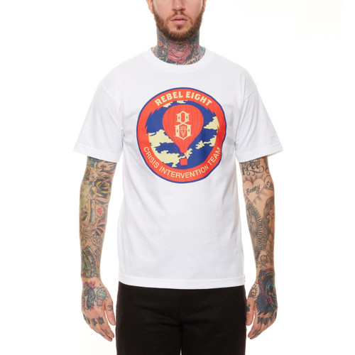 Rebel8 Crisis Intervention T-Shirt in white