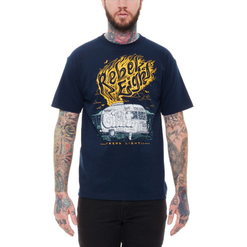 Rebel8 Tread Lightly T-Shirt in navy