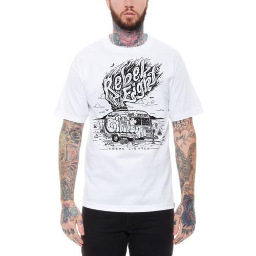 Rebel8 Tread Lightly T-Shirt in white