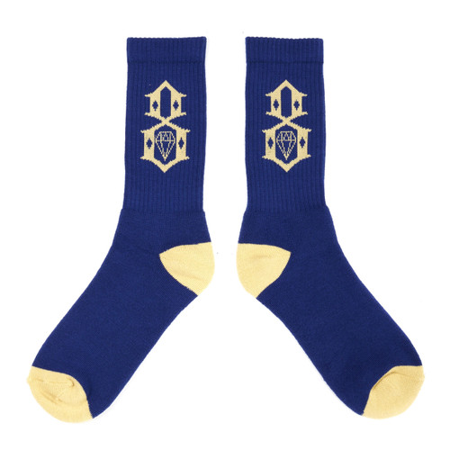 Rebel8 Navy Khacki Logo Socks
