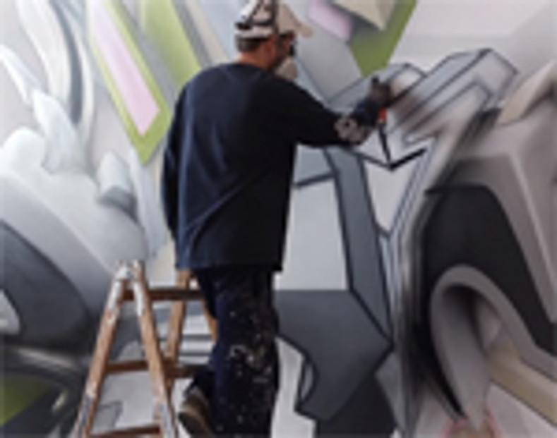 German Graffiti Artist Daim at Work