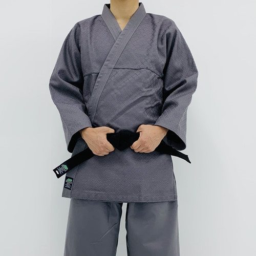 KHF All Grey Hapkido Uniform (Takes 1- 2 weeks to make this product)